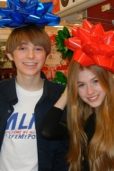 Kat and Kickin' It star Dylan Riley Snyder had a ball picking out the toys and wrapping supplies!
