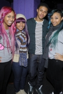 Diggy Simmons meets the OMG Girlz on the Scream Tour